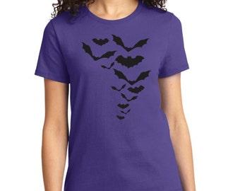 Halloween Bats Ladies TShirt