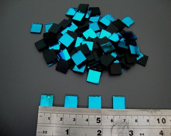Art/&Craft, 500 pieces 1.6 mm Offcuts Turquoise Glass Mirror