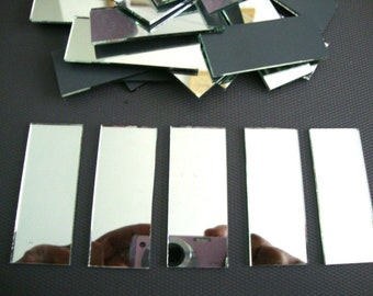 200 pieces 0.5 x 1 cm Silver Glass Mirror Tiles 2 mm thick Art/&Craft,