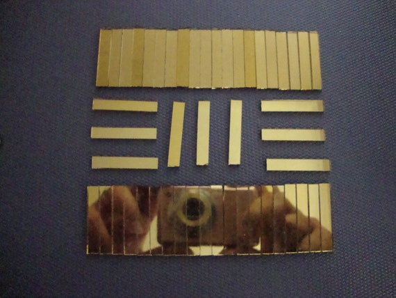 12 x 0.5 cm Art /& Craft 1.6 mm Mosaic Gold Mirror Glass strips 50 pcs