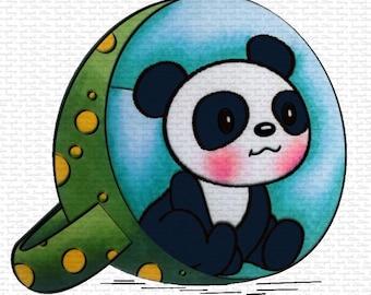 Image #50 - Panda In Mug -  Digital Stamp by Sasayaki Glitter Stamps - Naz - Line art Only - Black and White