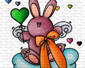 Some Bunny Loves You Digital Stamp by Sasayaki Glitter