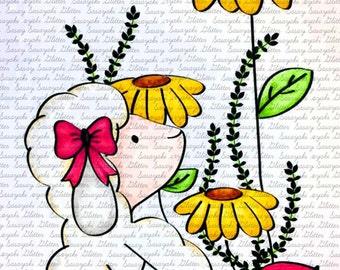 Image #2 My ladybug - Digital Stamp by Sasayaki Glitter Stamps - Naz - Line art only - Black and White