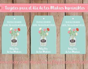 Tarjetas imprimibles para el día de las Madres/Mothers Day SPANISH***INSTANT DOWNLOAD***Printable