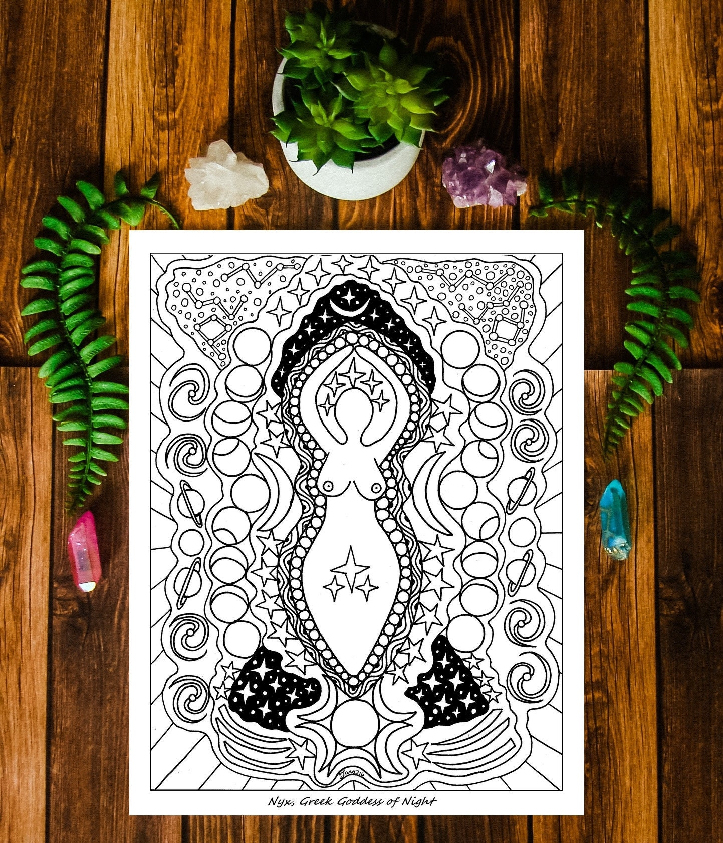 Pagan Coloring Pages for Your Book of Shadows PDF Wicca Coloring | 1682x1443