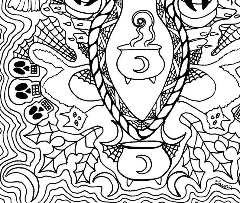 Samhain Art Coloring Page Halloween Art Goddess Art Pagan ...
