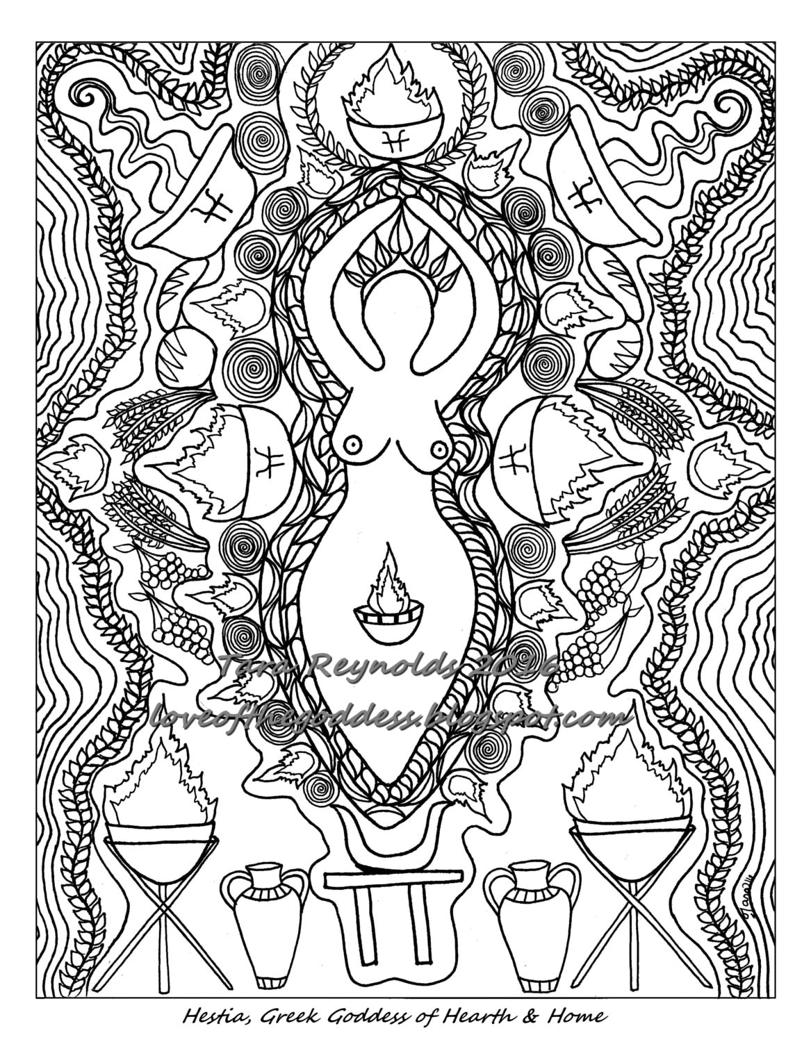 Pagan Coloring Pages Free - Coloring Home | 1500x1167