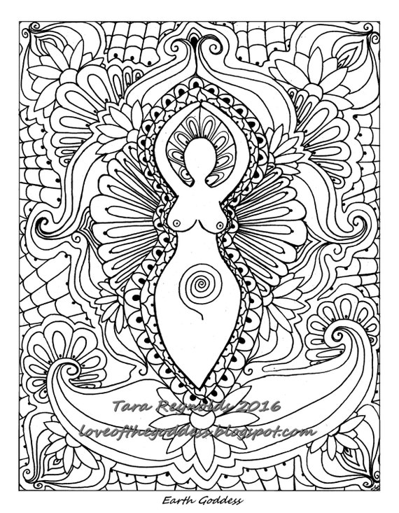Mandala Coloring Page Printable Goddess