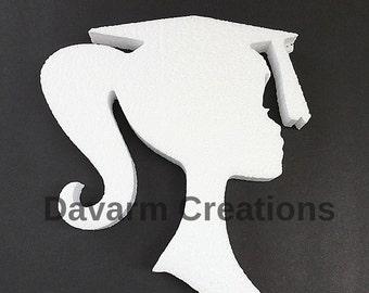 MEDIUM Graduate figure/GRAD/ Graduate/Graduation decor/Styrofoam figure/Polystyrene foam figure/Graduation party supplies/Graduate