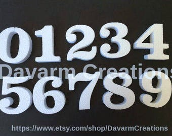 6 INCHES Styrofoam number /Numbers/Party numbers/Foam Numbers/Customized Numbers/Foam/Styrofoam/Custom Numbers/Birthday Numbers