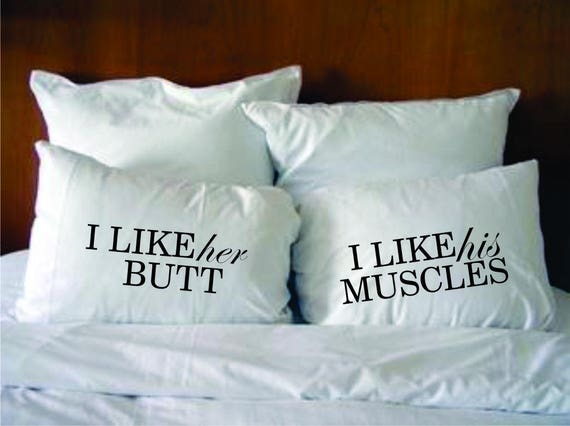 his and hers bedding couples pillowcases funny pillowslips i etsy