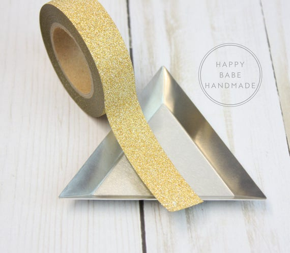 Light Gold Glitter Washi Tape, 10 Yards, 9/16\