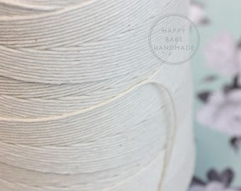 12 ply Baker's Twine, 50 Yards, Unpolished Cotton Twine, Macrame Cord, Cotton Cord, Cotton Twine, Neutral Twine, Cotton String, Ivory Twine