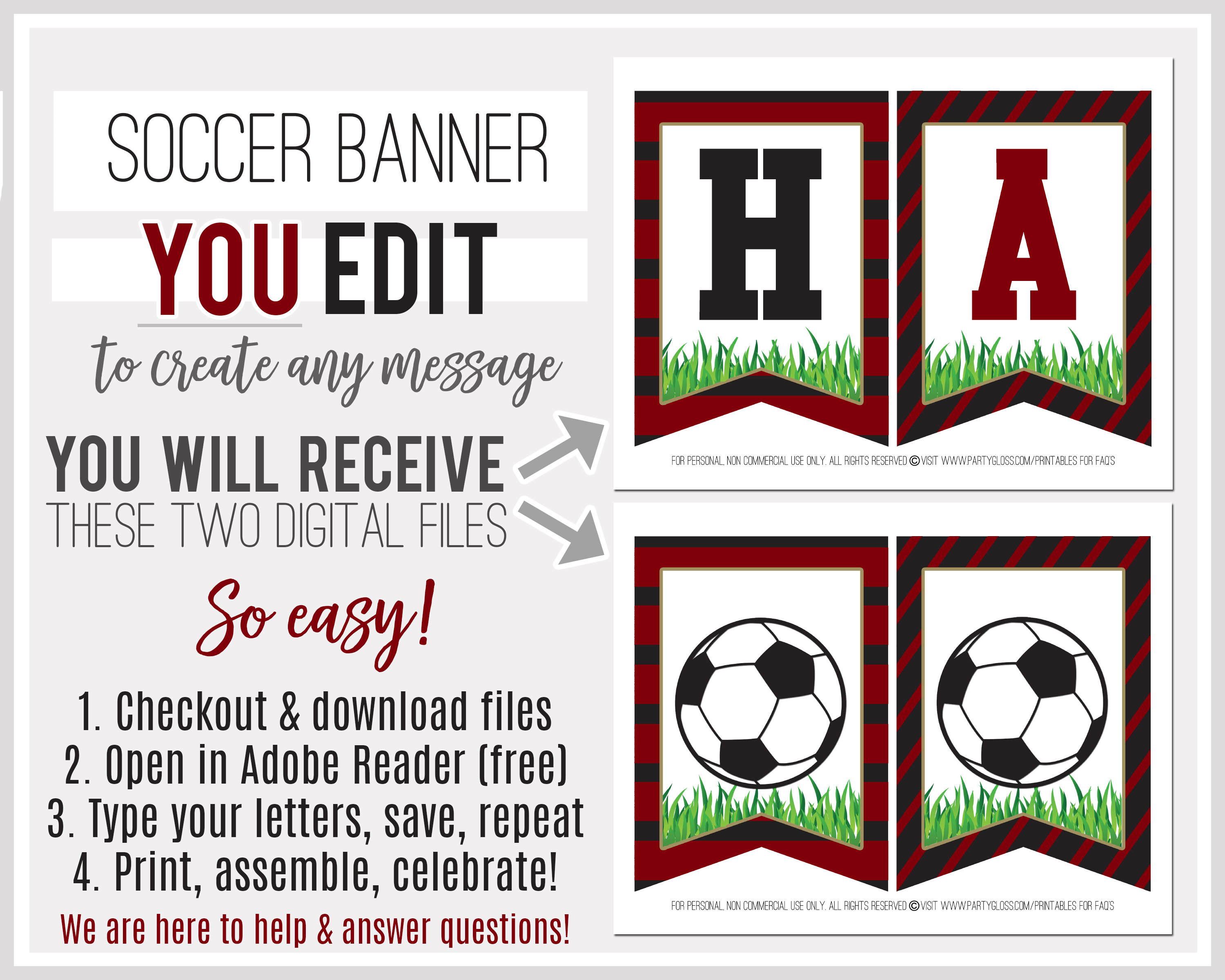 photo about Soccer Printable titled Printable Football Banner, Editable Banner, Black Pink Gold Football, Electronic Banner, Alphabet Banner, Prompt Obtain, Atlanta Football
