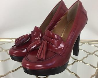 a8616ebe4b0 Coach Red Tassel Pumps - Platform High Heel - 4.5