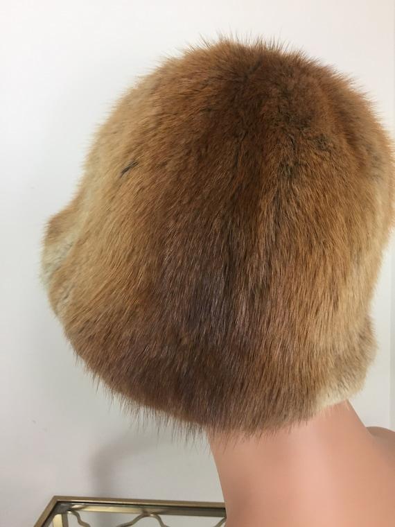 Vintage 60s 70s Fur Bucket Hat - TANNERY ROW - Wa… - image 6