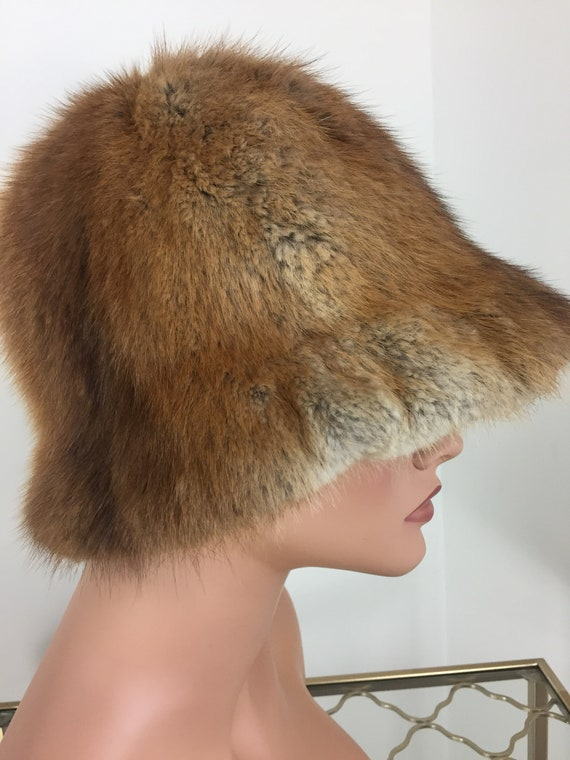 Vintage 60s 70s Fur Bucket Hat - TANNERY ROW - Wa… - image 5