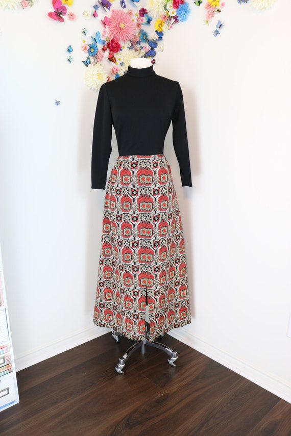 70s Vintage Lurex Hostess Dress - Medium - CHARM -
