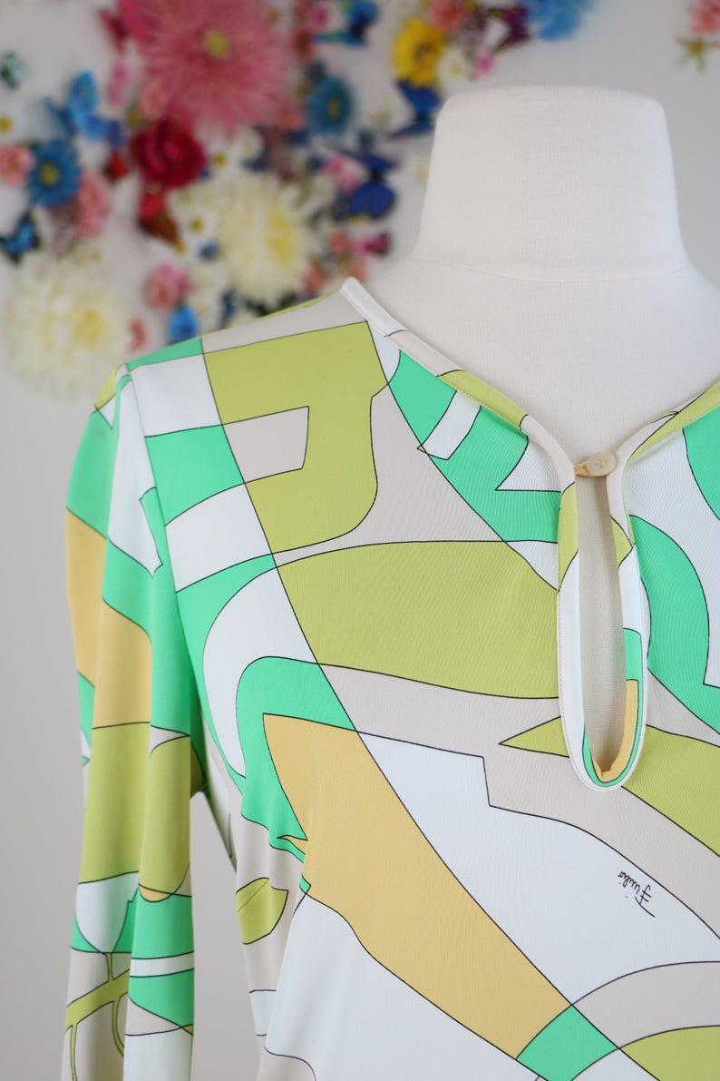 e68612a38c30 1970s Emilio Pucci Vintage Shift Dress M/L Authentic   Etsy