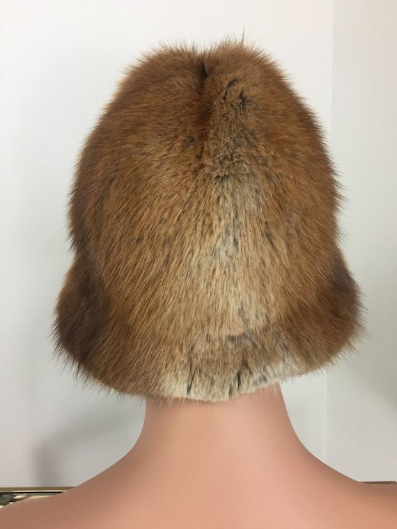 Vintage 60s 70s Fur Bucket Hat - TANNERY ROW - Wa… - image 7