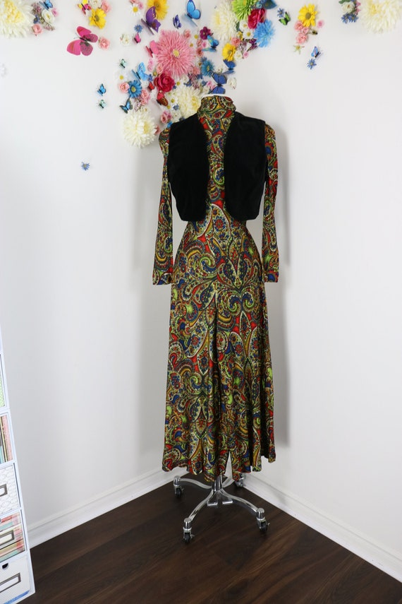 Vintage 60s 70s Psychedelic Palazzo Jumpsuit With