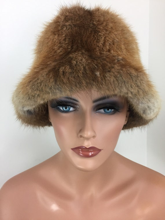 Vintage 60s 70s Fur Bucket Hat - TANNERY ROW - War