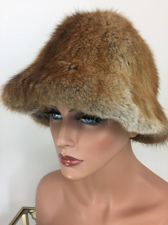 Vintage 60s 70s Fur Bucket Hat - TANNERY ROW - Wa… - image 3