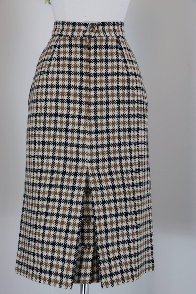 3b84ad35da 80s Does 1960s Skirt Plaid Midi Pencil Skirt Austin Reed | Etsy