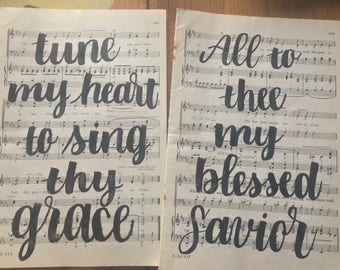 Hymnal Brush Pen Calligraphy