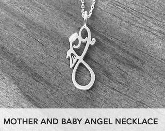 Silver Miscarriage Necklace, Miscarriage Gift Jewelry, Miscarriage Memorial, Pregnancy Loss, Keepsake, Baby Angel, Baby Loss, Miscarriage