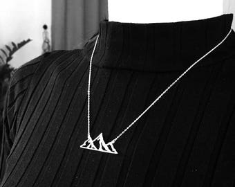 Mountain Necklace Sterling Silver, Mountain Range, The Mountains Are Calling, Nature Lover Gift, For Women, Mom, Sister, Best Friend, Her