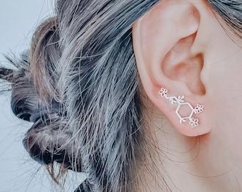 Vintage Dopamine Molecule Earrings,Love Equation Earrings,The Chemical Earrings,Women Jewelry