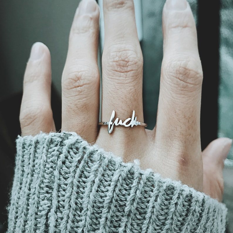 Fuck Ring Dainty Ring Fuck It Ring Fuck Jewelry Simple image 0