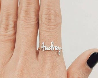 Name Ring, Personalized Ring, Custom Name, Personalized Gift, Mothers Ring, For Her, For Women, Personalized Name Ring, Children Name Ring