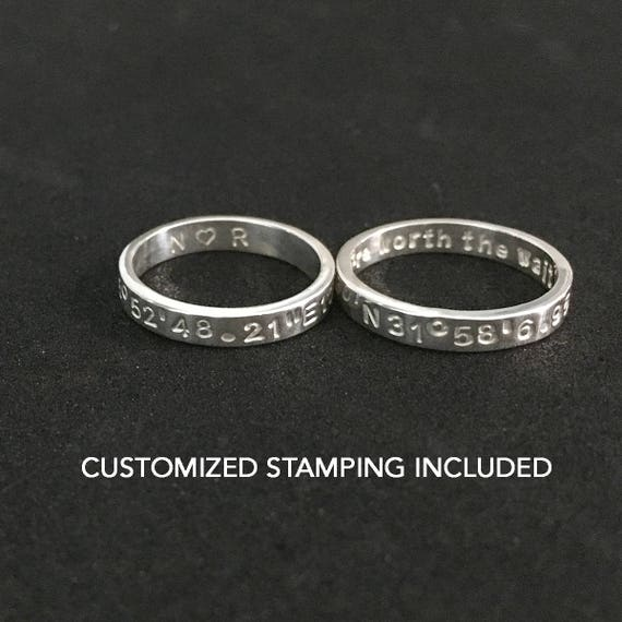 long distance couple rings