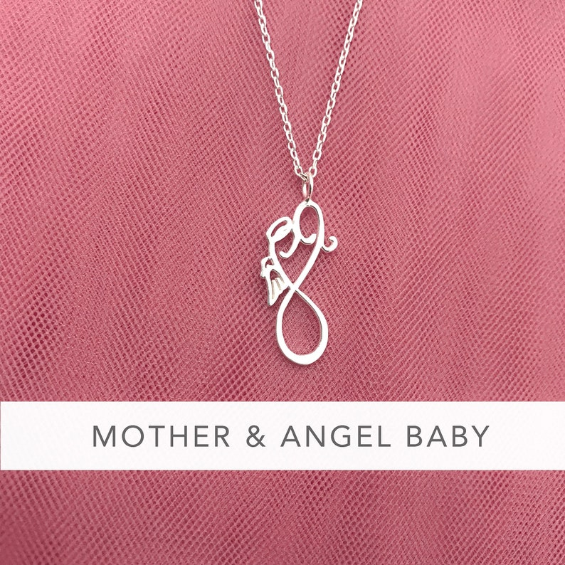 Miscarriage Keepsake Jewelry Personalized Angel Baby Necklace Pregnancy Loss