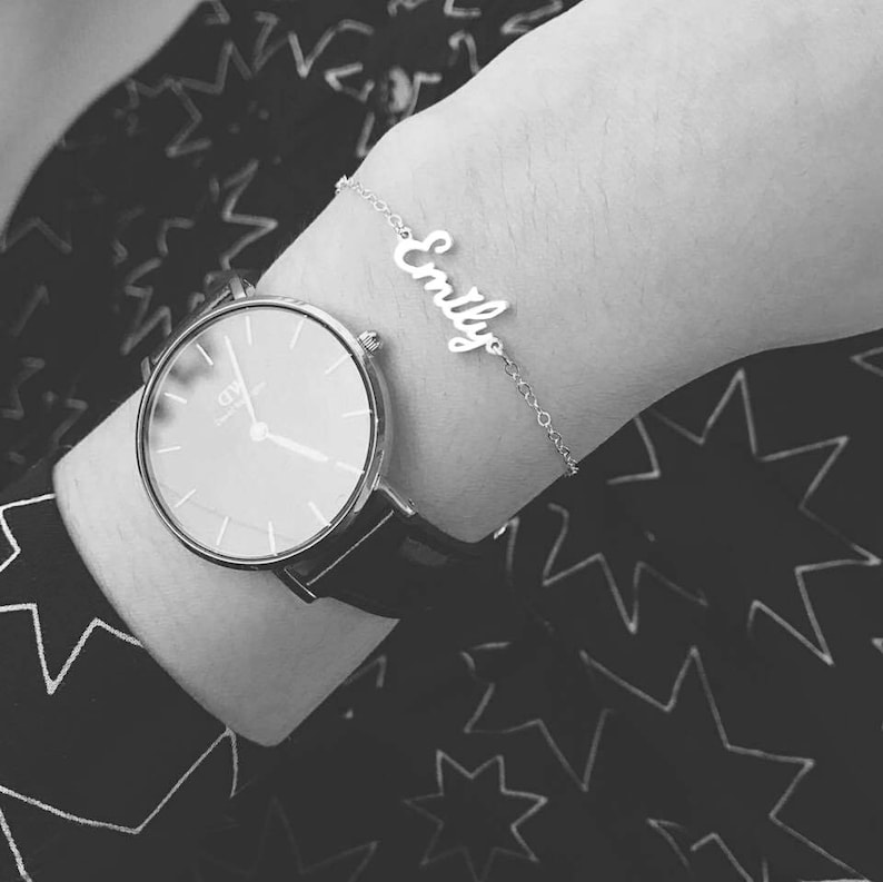 Gifts for Mom Kids Name Anklet Name Bracelet Personalized Name Jewelry Custom Name Bracelet or Anklet Dainty Bracelet Baby Name
