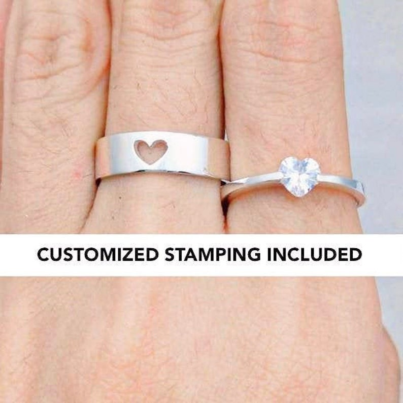 Couple Ring Set Promise Rings For Couples His And Her image 0