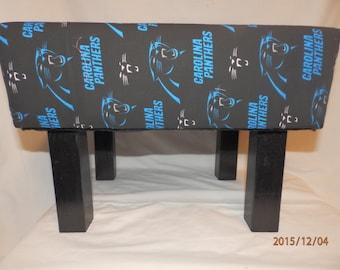 Carolina Panthers Handmade Footstool