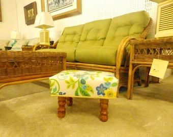 Floral Handmade Footstool