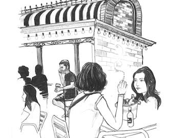 Day 16 Print: At the bar
