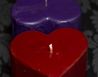 XLarge Dripping Heart, Red Rigger Soy Wax Play Candle, BDSM Candles, Homemade Kinky Valentine's Present