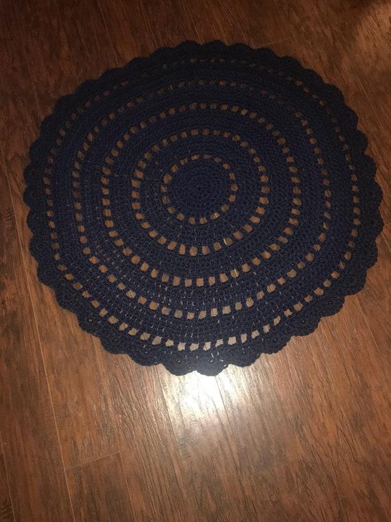 Crochet Mandala Rug Etsy