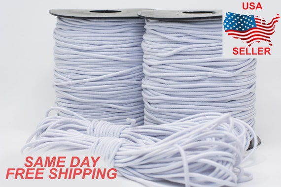 100 Yards Round Elastic Cord for DIY Ear String Spandex Band Polyester Rope