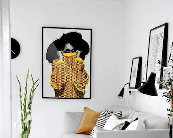 Ayaba Art Poster • Afrocentric Art Print, Home Decor, Art Posters, African Wall Art, Black Girl Magic, Melanin, African Art, Black Girl