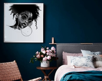 Nwamaka Art Poster • Afrocentric Art Print, Home Decor, Art Posters, African Wall Art, Black Girl Magic, Melanin, African Art, Black Girl