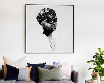 Ifeatu Art Poster • Afrocentric Art Print, Home Decor, Art Posters, African Wall Art, Black Girl Magic, Melanin, African Art, Black Girl