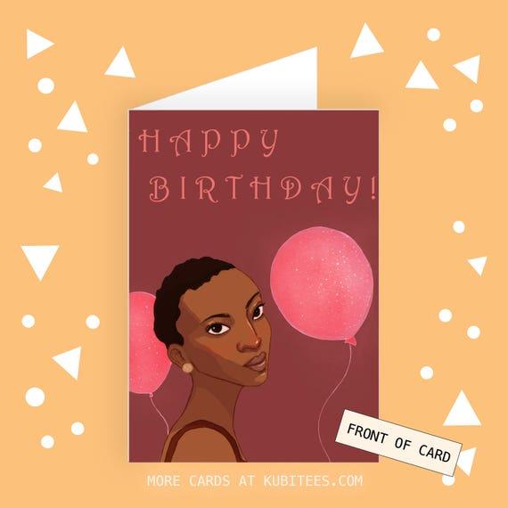 Birthday Card Birthday Cards For Black Girls Birthday Etsy