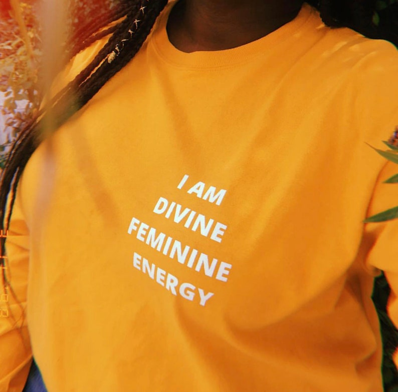 886009d2c6338 I Am Divine Feminine Energy Long Sleeve Shirt, Feminine Shirt, Women's Tee,  Feminine Energy, Feminist, Divine, Divine Energy, Inspirational