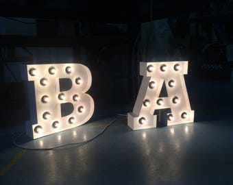 Marquee Letters Verlichting : Big marquee letters etsy